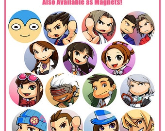 Ace Attorney Pins