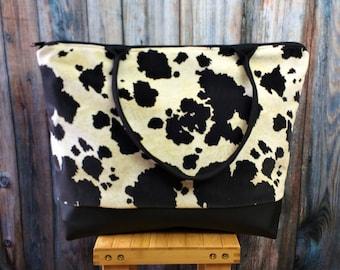Travel Bag -Weekender Bag -Travel Gift -Gift for Travelers -Cow Print Bag- Weekender Bag Women -Wanderlust Gift- Weekender Bag Canvas