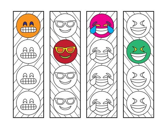 Emoji 2 Bookmarks PDF Zentangle