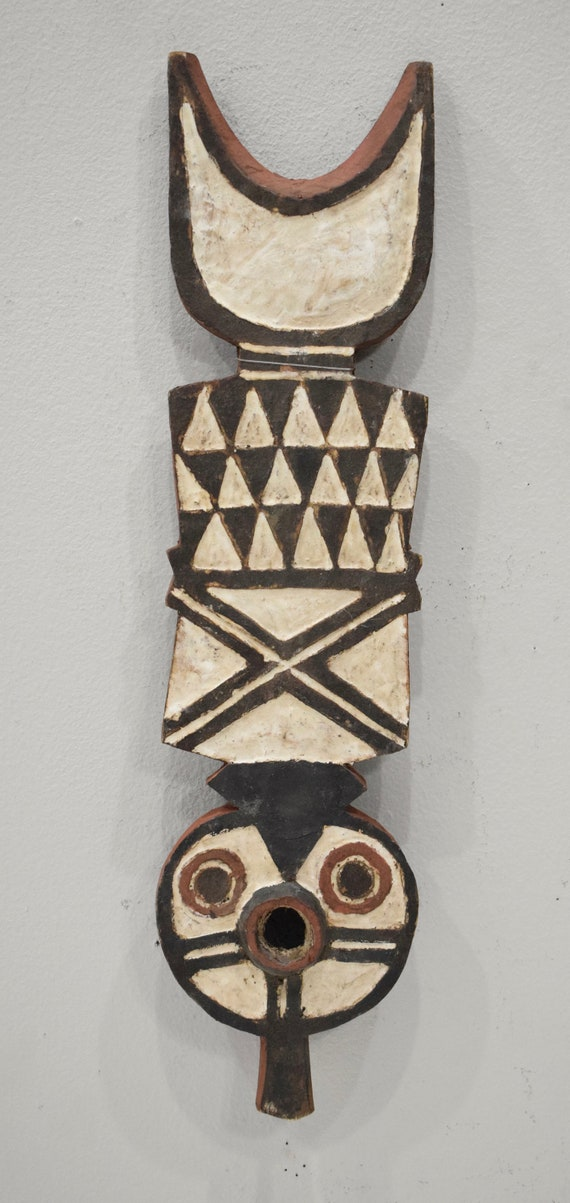 African Mask Bobo Buni Plank Mask Burkina Faso Dancing Initation Bobo Buni Plank Mask