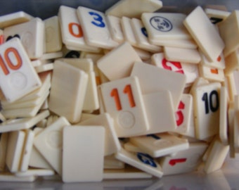 Lot of 50 Rummikub Game Pieces