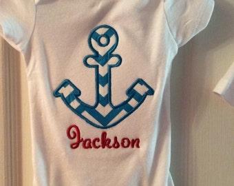 Anchor Shirt for Children - Anchor Shirt for girls - Anchor shirt for boys - anchor shirt - anchor bodysuit