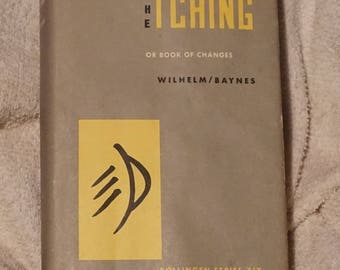 "Vintage hardbound book, ""The I Ching or Book of Changes"" with Wilhelm/Barnes, Bollinger Series XIX."
