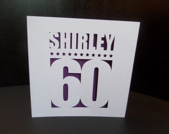 Name and Age Birthday Cut Out Card