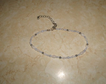 vintage necklace choker glass seed beads