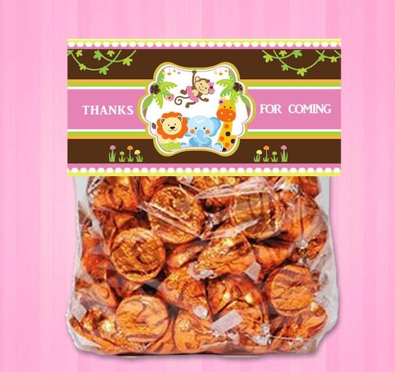 Items Similar To Pink Girl Monkey Jungle, Safari Treat