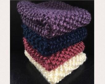 Wash cloth, face cloth, Dishcloth, Knit Wash cloth, Knit Dish cloth , Blue Wash cloth, Purple Wash cloth, Pink Wash cloth, White Wash cloth