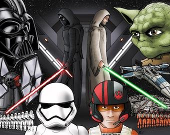 The Force Awakens 11x17 Art Print
