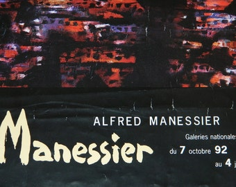 french poster. poster exhibition Alfred MANESSIER