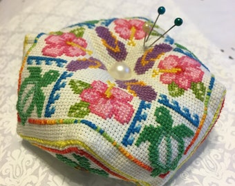 Tropical Biscornu Pincushion Cross Stitch (Pattern Only)
