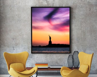 Statue of Liberty Sunset