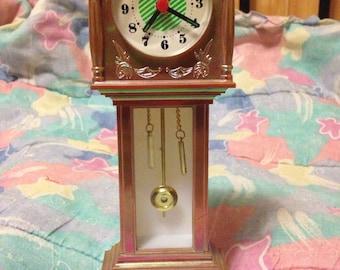 Vintage 1990s Mini Luminescent Grandfather Clock