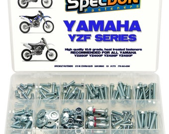 250pc Specbolt Factory Race Bolt Kit Yamaha YZF250 YZF400 YZF426 YZF450 YZF 250 400 426 450 YZ250F YZ400F YZ426F YZ450F Body Engine Frame