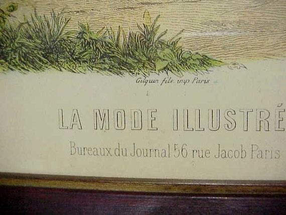 La mode illustree bureaux du journal 56 rue jacob paris framed