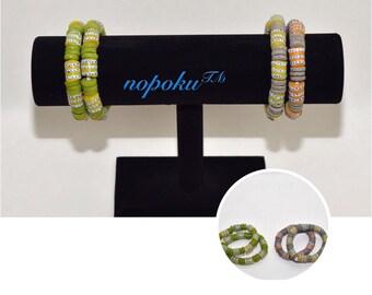Krobo bead bracelet,African Bracelet, Trade Beads, green bracelet,Jewelry,  African Jewelry,stackable bracelet,Boho,Handmade, Gift,Artisan,