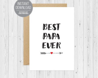 Best Papa Ever, Digital Download, Father's Day Card, Father Son, Father Daughter, Unique Card, Funny Father's Day, Custom Father's Day