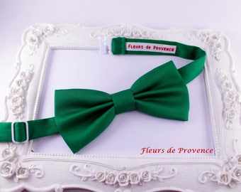 Bow tie elegant emerald green satin - man / baby / children
