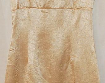 Vintage gold sheath dress