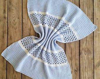 The Derek Baby Blanket Crochet Pattern *PDF FILE ONLY* Instant Download