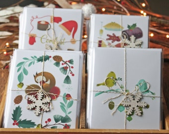 Pack of 4 holiday cards