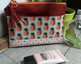 """""""Pineapple"""" suede pouch"""