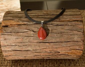 Copper Teardrop Stone Pendant Choker