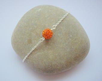 Women in Korean amber rhinestone bracelet