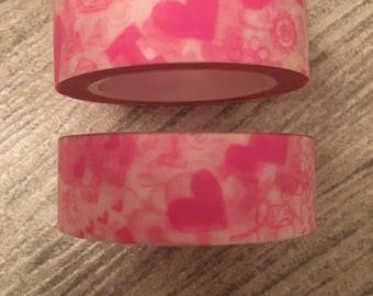 Hearts washi tape hearts love