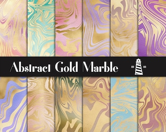Liquid Gold Digital Paper, Gold Abstract Patterns, Colorful Gradient Backgrounds, Abstract Scrapbook Papers, Modern Patterns, BUY12FOR15