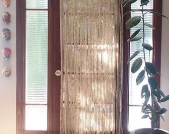 Beaded Curtains Room Divider Yarn Garland Boho Decor Wood Bead Curtain Door Hanging