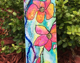 First day of spring- original 4x12 painting on canvas