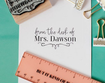 From the Desk of Teacher Stamp, School Teacher Rubber Stamp, Book Rubber Stamp, Library Rubber Stamp, This Book Belongs to Stamp