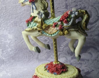 Vintage Carousel Horse Figurine Collectible
