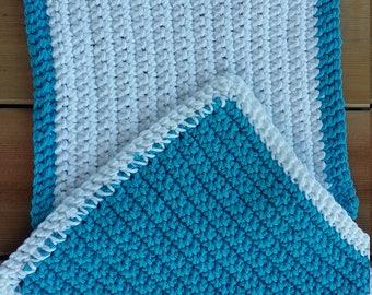 Crocheted cotton washcloth/dishcloth