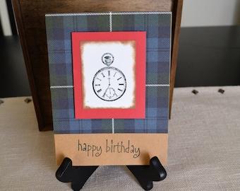 Masculine card etsy happy birthday cards masculine cards compass cards homemade birthday cards blank birthday bookmarktalkfo Gallery