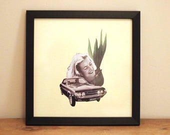 Car Plant - Digital Collage Art Print Poster