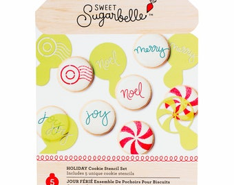 Christmas Cookie Stencil, Small Christmas Cookie Stencils Set, Sweet Sugarbelle Cookie Stencils, Fondant Stencil, Cookie Decorating