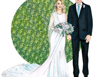 Couple Fashion Custom Illustration Portrait