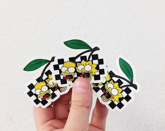 Simpsons Cherry Stickers