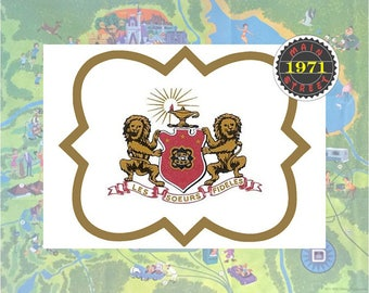 Phi Mu Coat of Arms in Quatrefoil Les Soeurs Fideles Custom Art - Great Big/Little gift! Instant Download