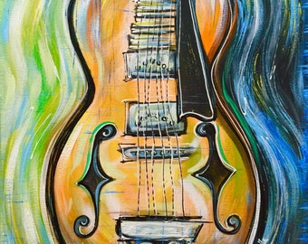 Violin Art, Violin Painting, Hand Painted by Sheila A. Smith