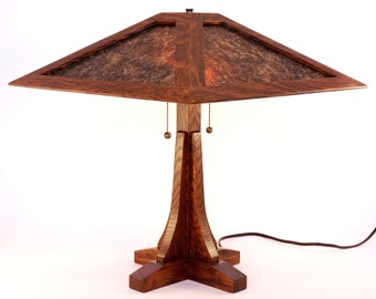 Grand Rapids I Lamp - a Craftsman mica lamp in Limbert and Stickley tradition