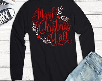 Merry Christmas Y'all, Christmas Svg,Dxf,Png,Jpeg