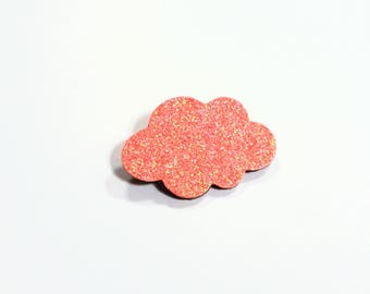"This brooch ""coral glitter"""