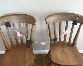 Small Hearts Knitted Garland