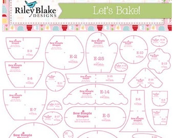 Let's Bake Sew Simple Shapes by Lori Holt - Includes 25 Templates