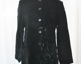 Pendleton Jacket Black Velvet Button Down Unworn Size 14