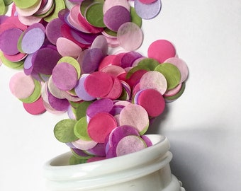 GARDEN PARTY tissue paper confetti wedding decorations send off exit toss flower girl petals balloon  baby bridal shower pink purple green