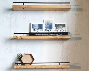 Floating Shelf, Flush Mount Shelving, Picture Ledge, Ledge Shelf, Photo Shelf, Wood Shelves, Wood Floating Shelf, Wall Shelf, Rustic Shelves