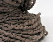 Handdyed Yarn, Clay, Gray, Taupe, Bulky yarn, Thick n thin, Soft, Wool, Wall hanging, Knitting, Weaving, Scarf Yarn, Yospun, Fiber